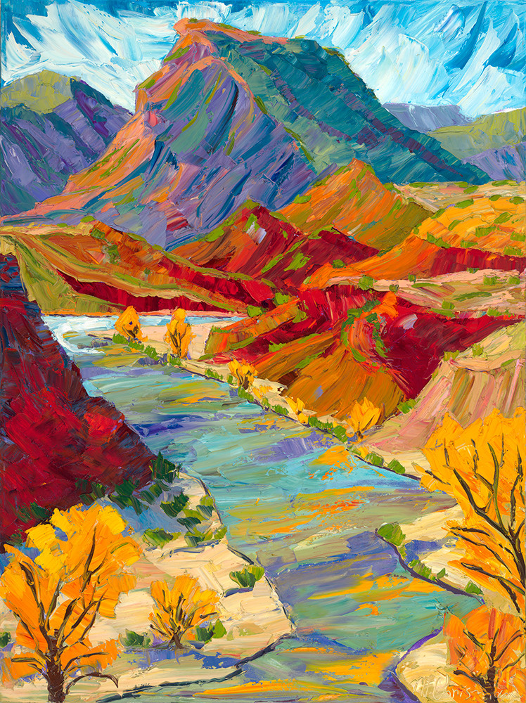 Chama River Patterns In Autumn Art | Fine Art New Mexico