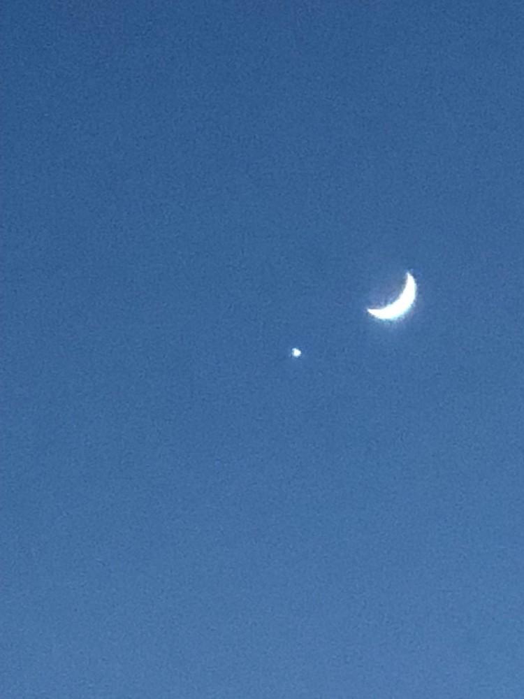 Venus & Moon Photography Art   Brian Ross Photography