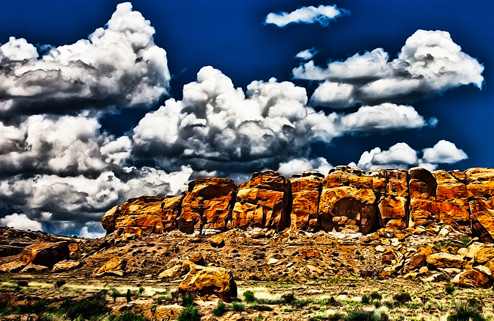 Chaco Canyon 2 - Art of New Mexico Print By Christopher Gatelock