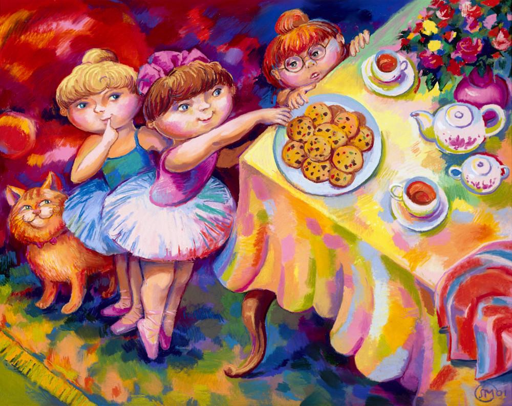 Little Ballerinas Steal Cookies