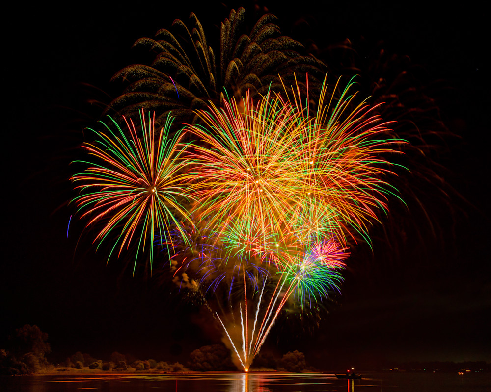 Fireworks over the St. Lawrence River photography prints