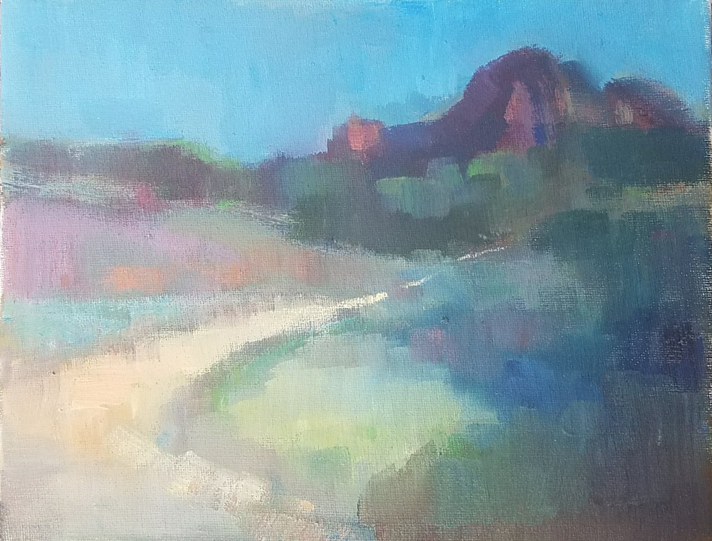 "Abstract Sedona Oil Paintings ""Sedona Shades"" by Peg Connery-Boyd"