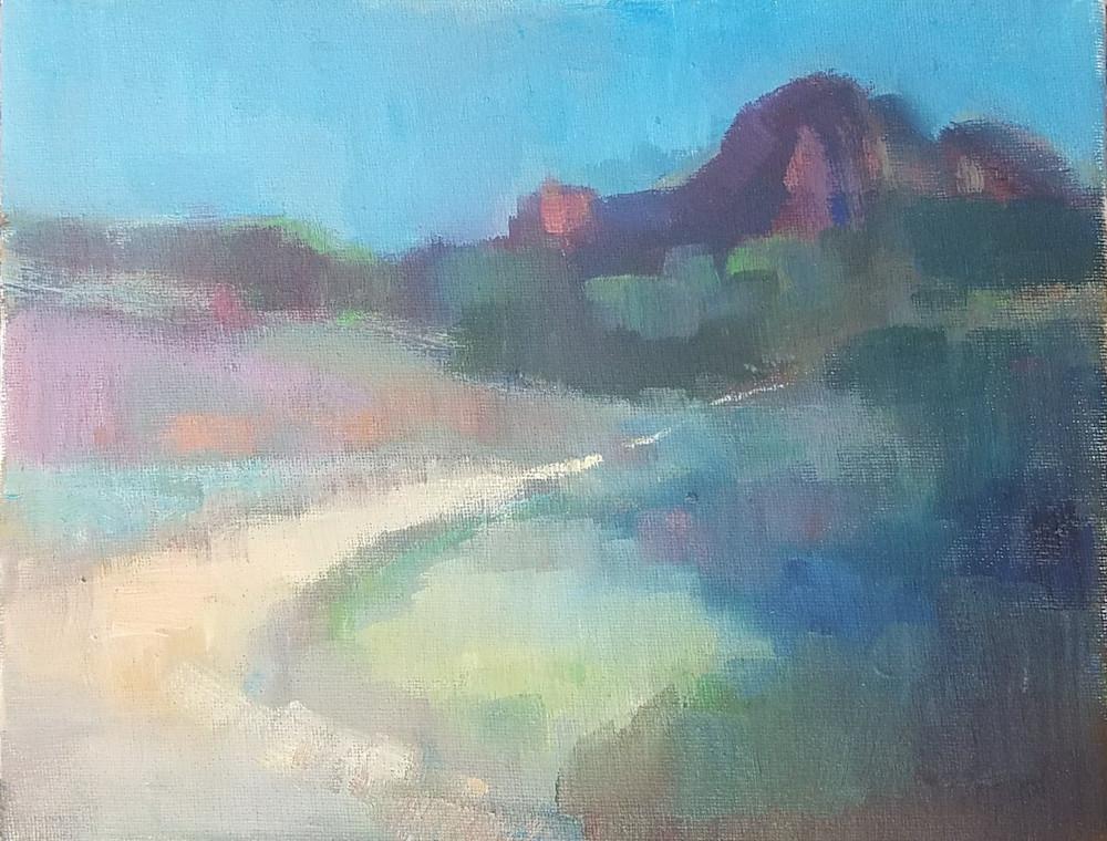 "Abstract Sedona Oil Paintings ""Sedona Shades"" by Peg Connery-Boyd"
