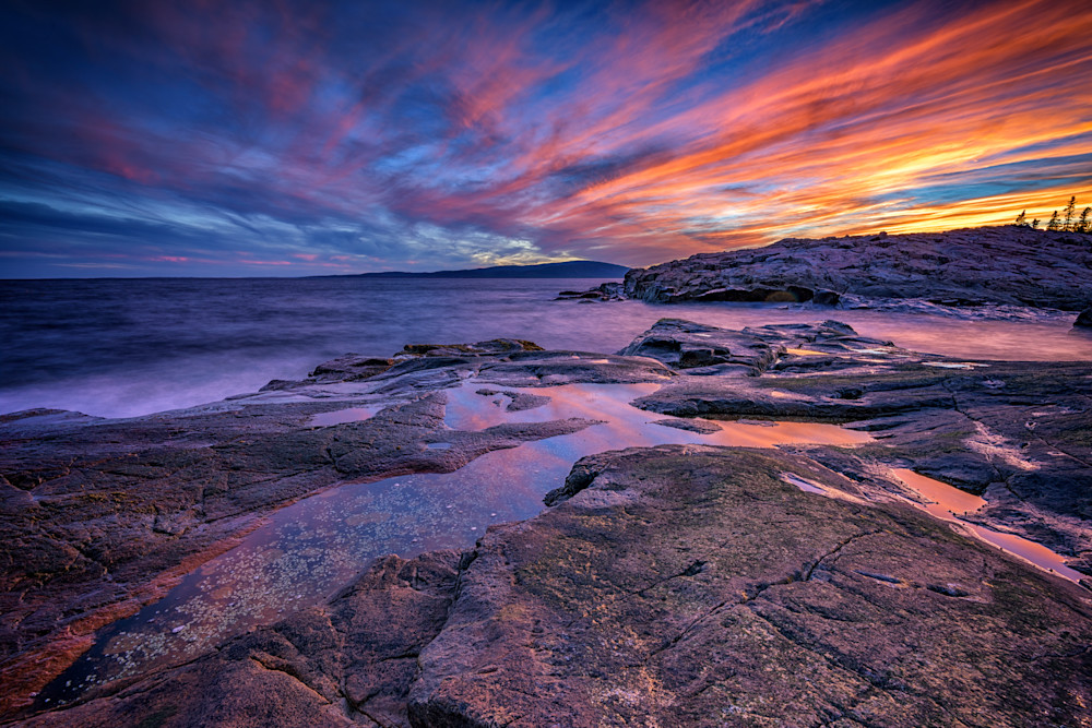 Red Skies at Schoodic Point | Shop Photography by Rick Berk