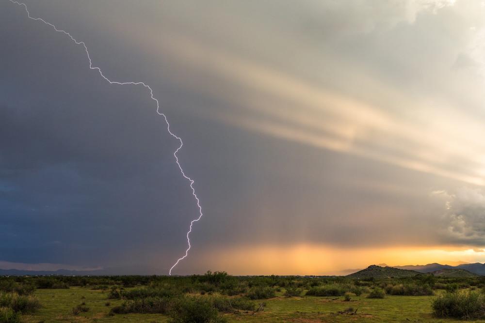 Crepuscular Lightning