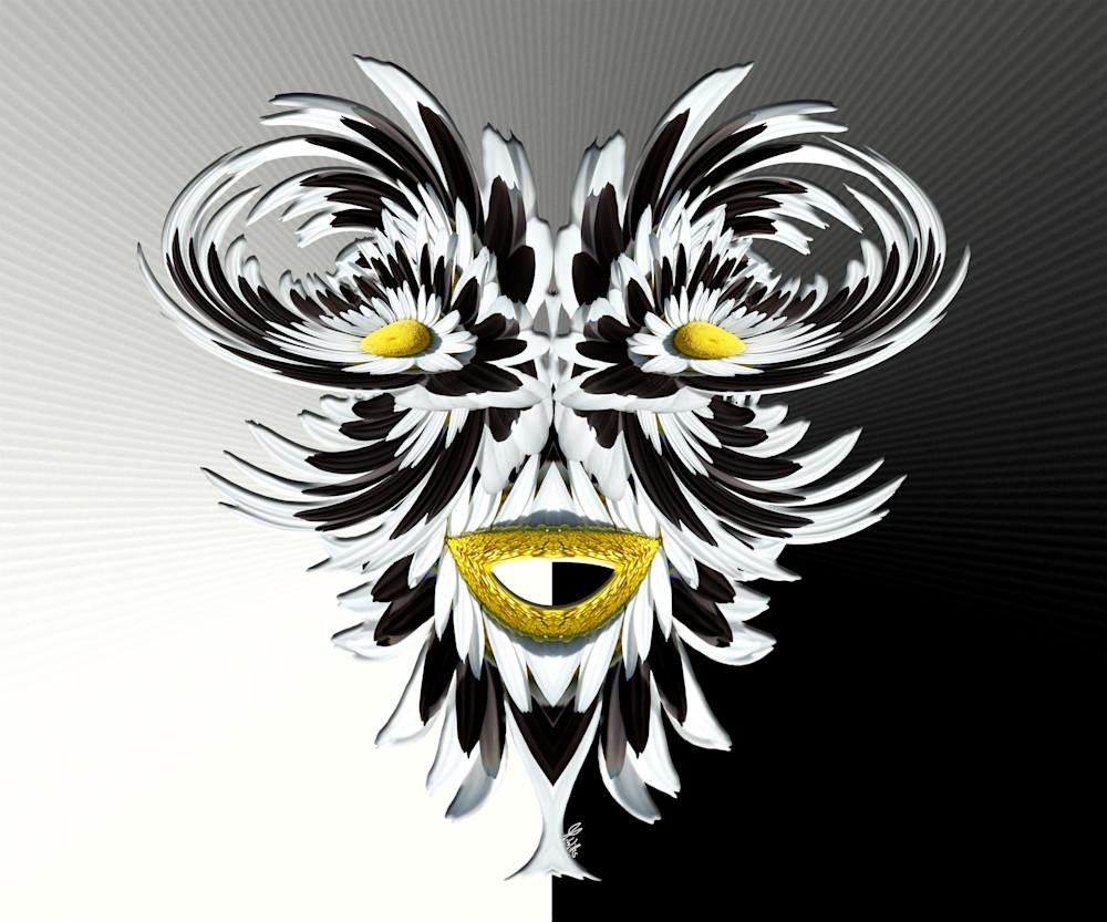 Moon Daisy Mask, print of photograph of a Moon Daisy, San Juan Mountains, Colorado for sale as digital art by Maureen Wilks