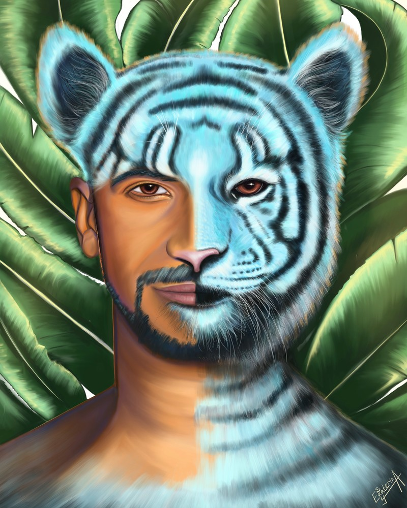 Tiger Man  Art | Ekaterina Sky