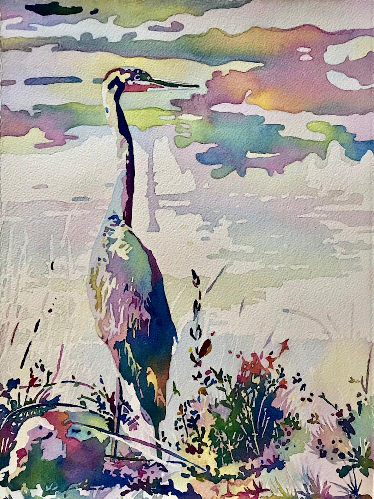 Heron Stillness and Tranquility:  Shop Prints/Patrice Cameron Art