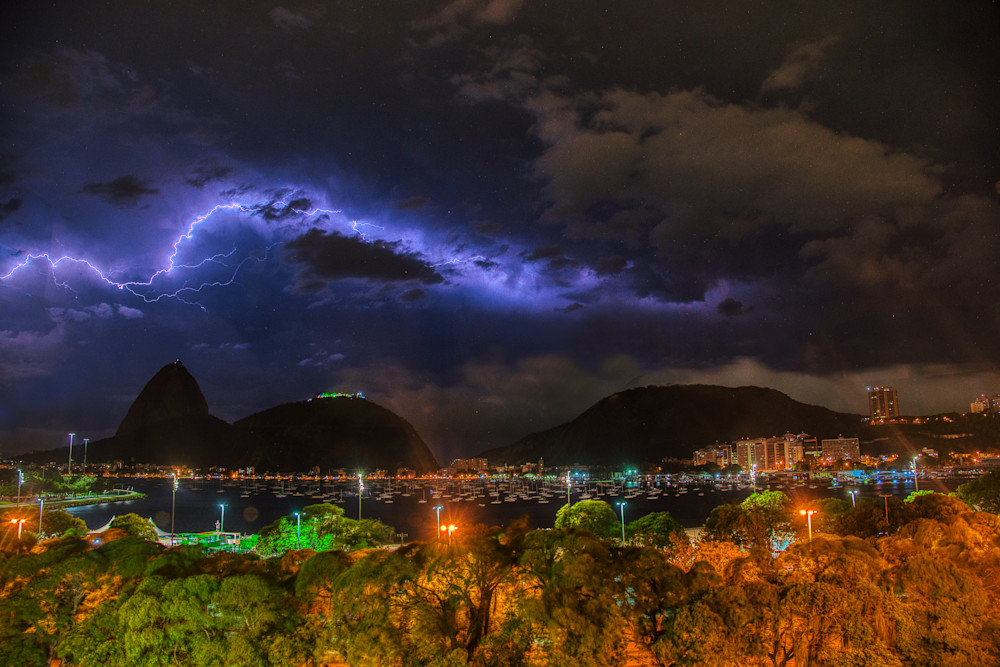 Lightning Over Sugarloaf Mountain Photography Art | Peter Batty Photography