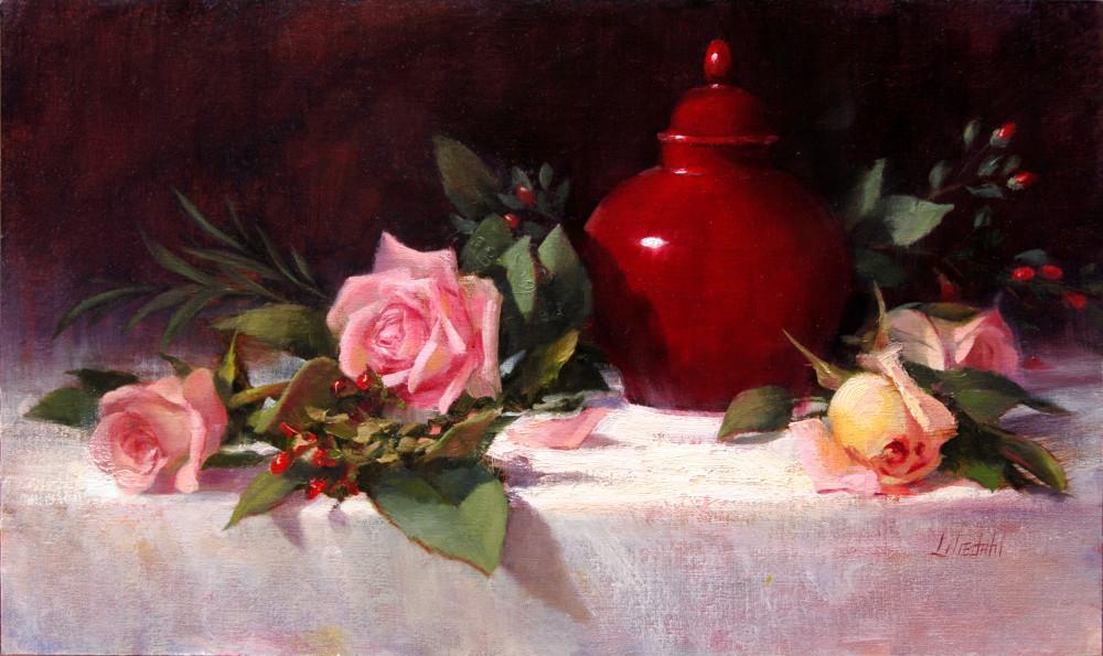 Roses and Ginger Jar
