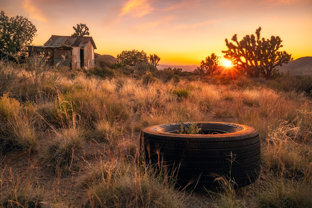 'Tin House & Sunset' Photograph by Jess Santos for sale as Fine Art