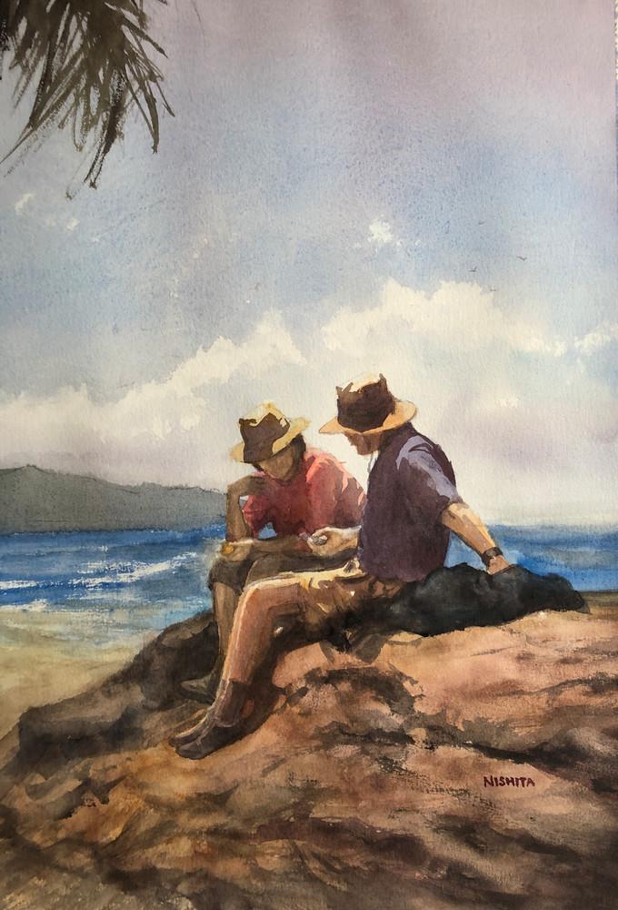 On The Rocks (Print) Art   Nishitas Art