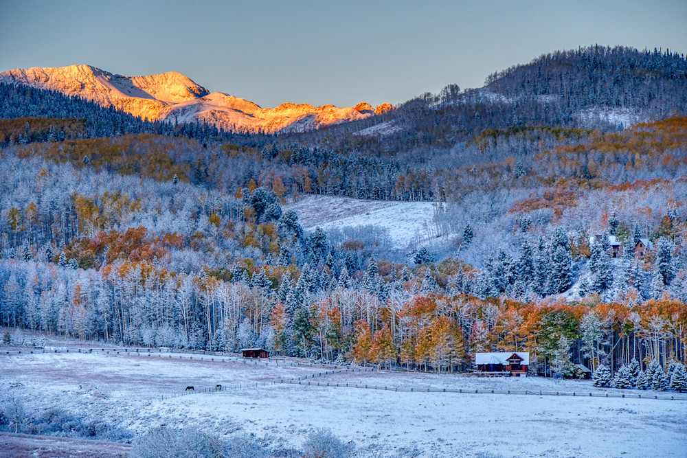 Winter meets fall in Telluride