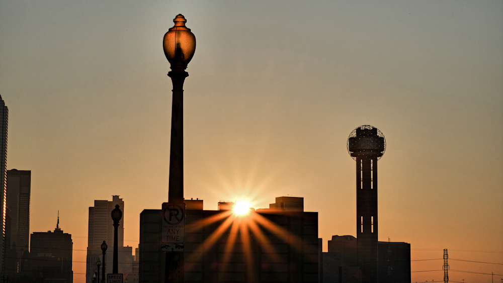 Dallas Skyline At Dawn 8 Photography Art | Drone Video TX