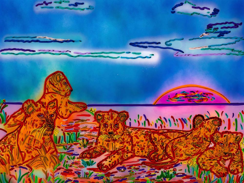 The Lion's Den | Animal Art | JD Shultz Art