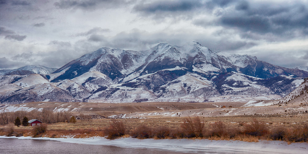 Mountain Panorama In Yellowstone National Park Art | Drew Campbell Photography