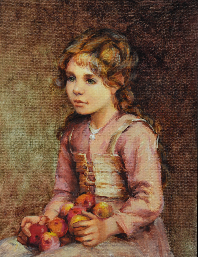Abigail with Apples