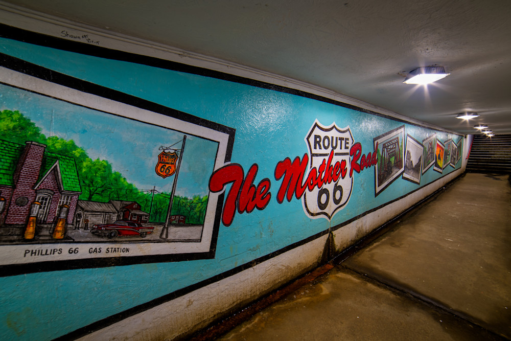 Route 66 - The Mother Road mural photography prints