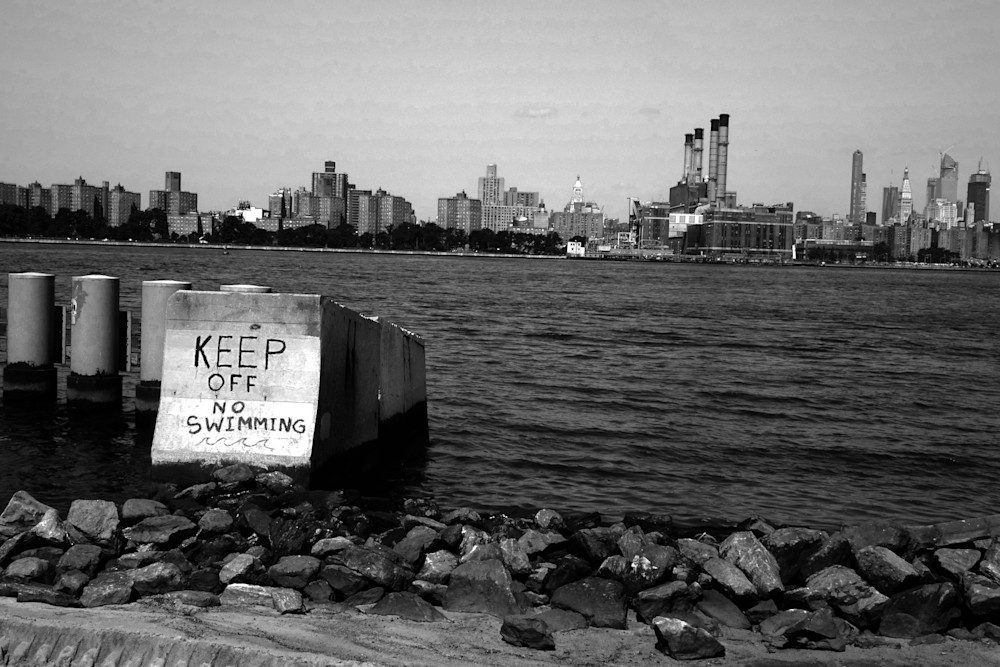 No Swimming, East River Photography Art | Peter Welch