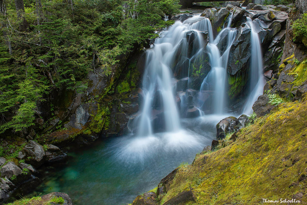 Paradise River waterfalls in Mt Rainier National Park | Pacific Northwest Photo Art prints