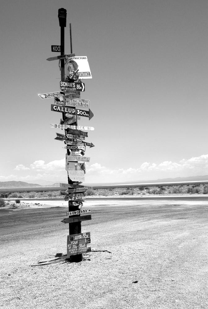 Cross Roads, California Desert Photography Art | Peter Welch
