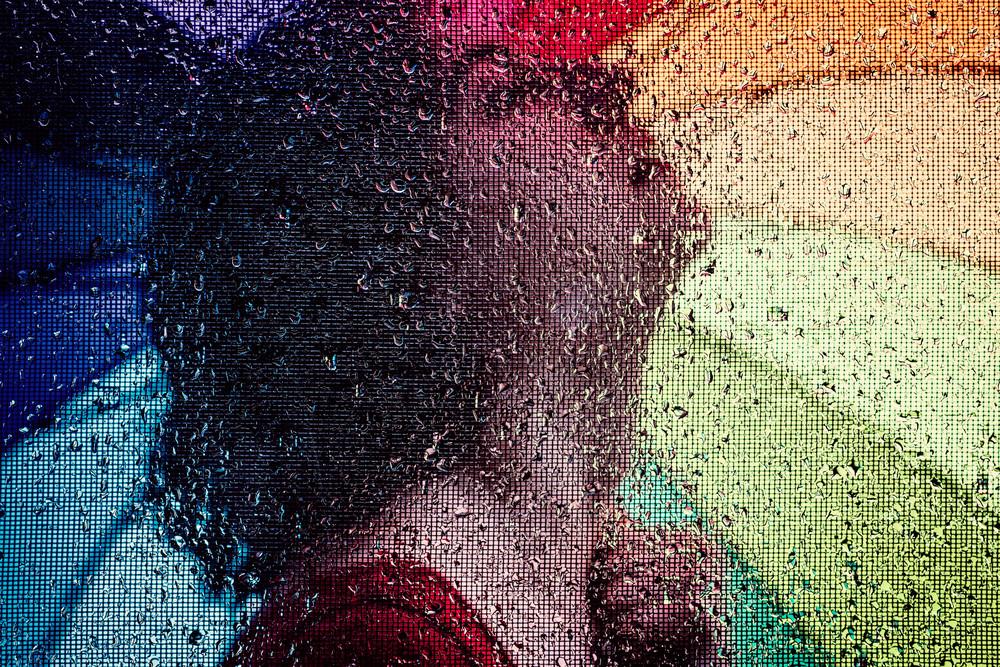 Rainbow - Abstract Portrait Photography - Fine Art Print by Silvia Nikolov