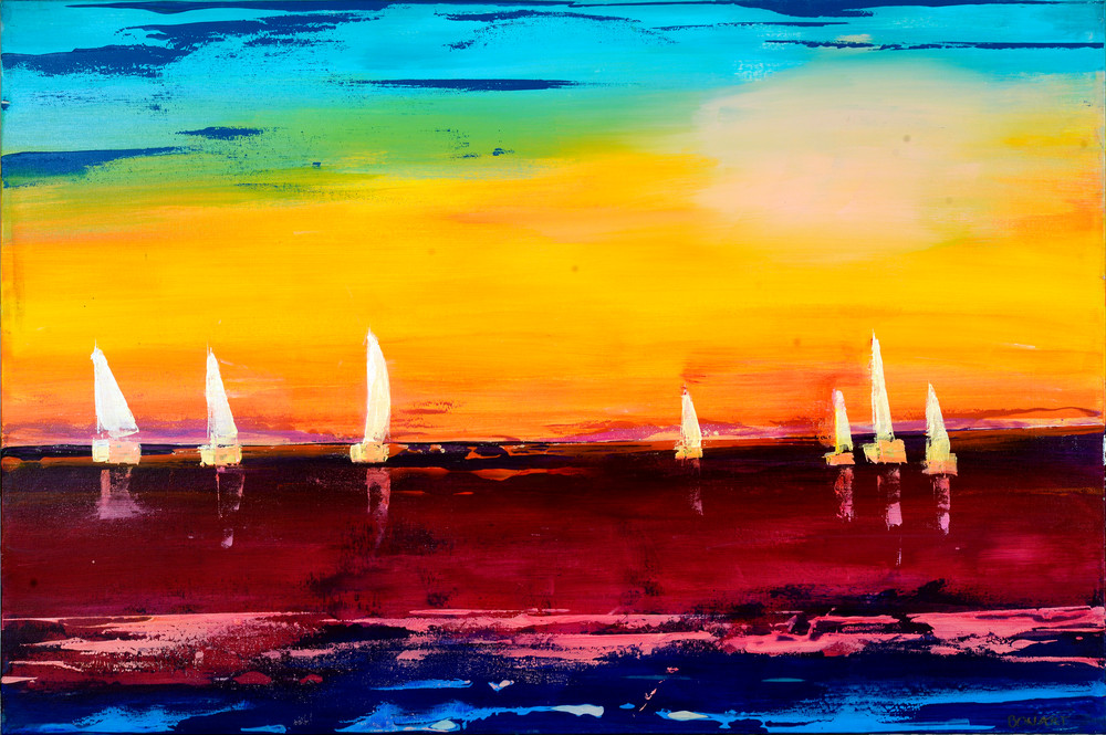 Silent Sailboats Art | benbonart