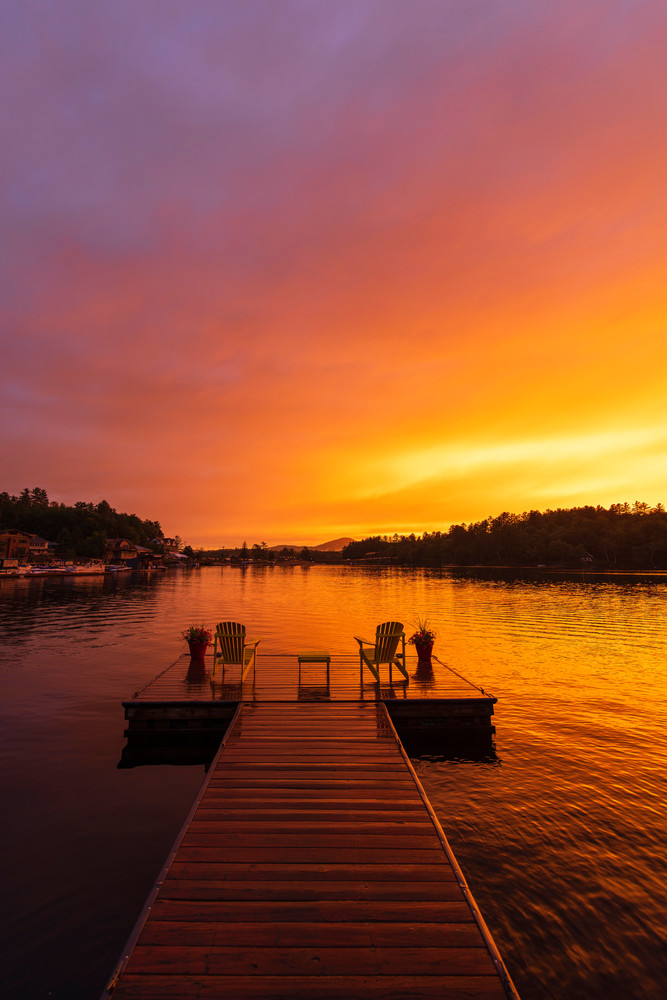 Long Lake Motel Dock Vert Photography Art | Kurt Gardner Photogarphy Gallery