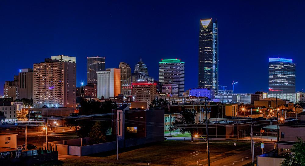 Oklahoma City skyline photography prints
