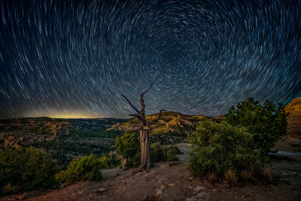 Star Trails From Windy Point Photography Art | Carol Brooks Parker Fine Art Photography
