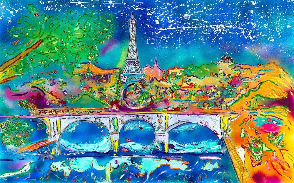 A Night In Paris | Places Art | JD Shultz Art