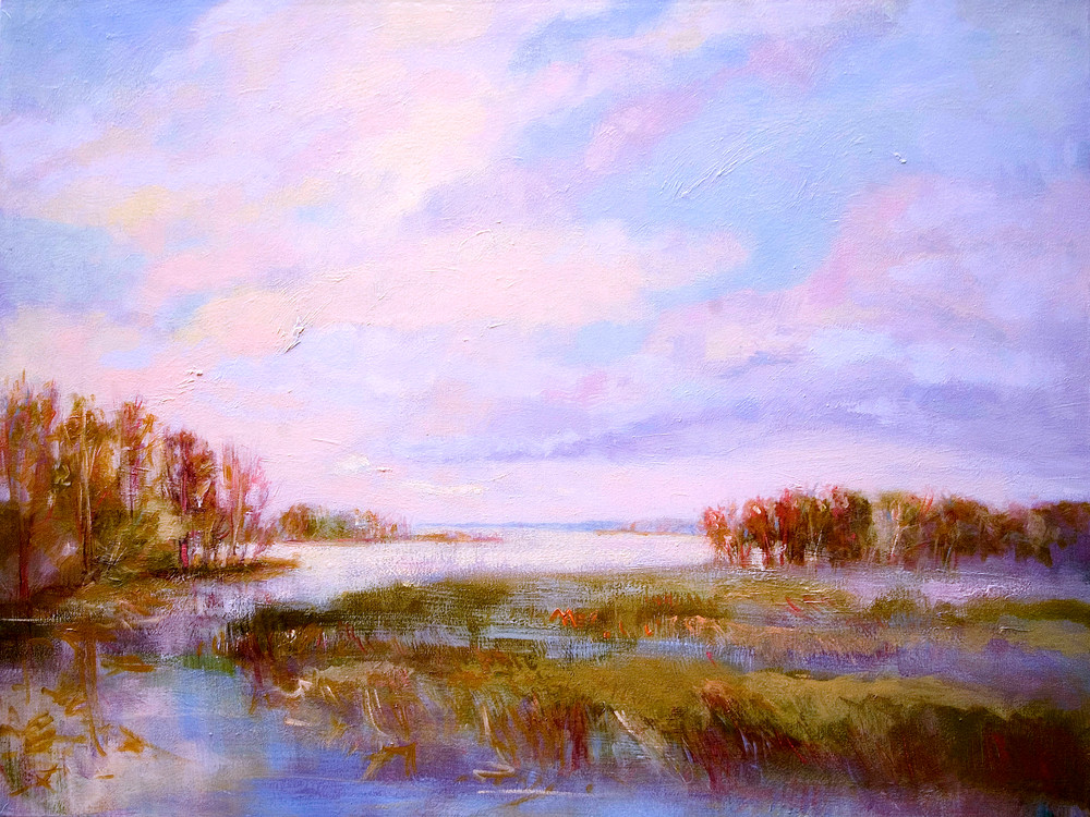 Yorktown Waterfront Painting, Fine Art Print, King's Creek by Dorothy Fagan
