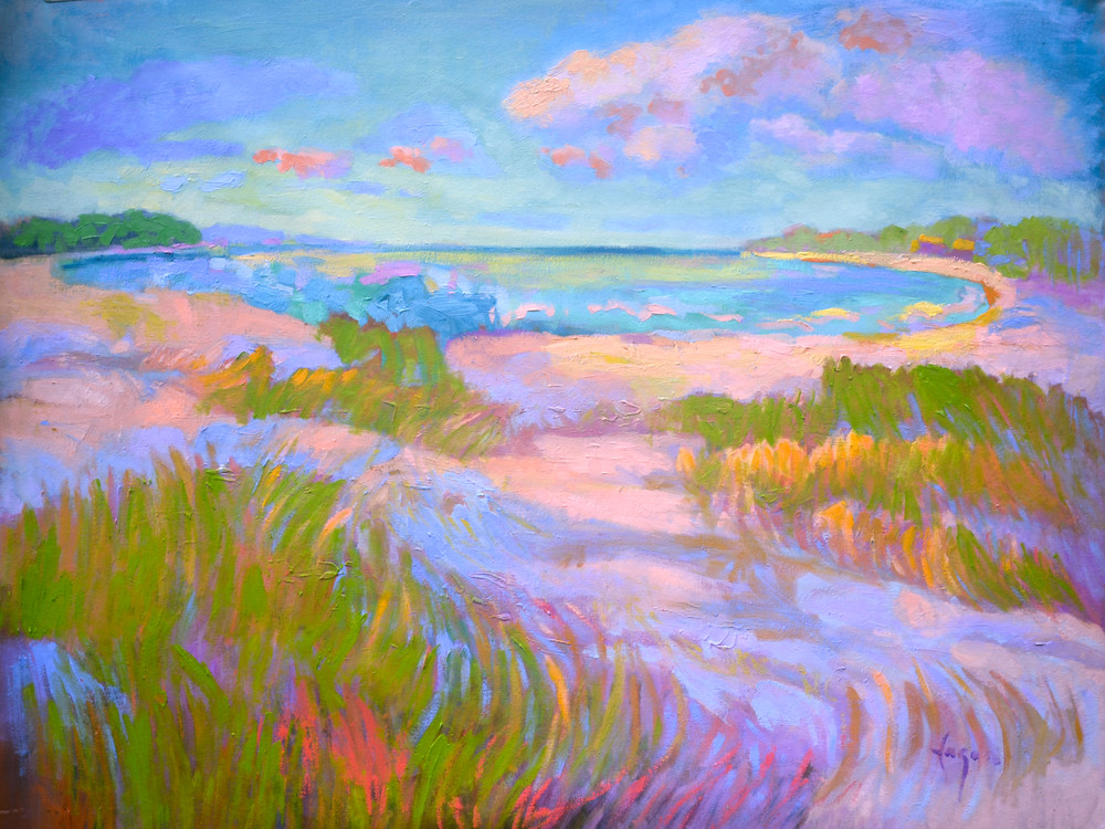 Sand Dunes Painting, Limited Edition Print by Dorothy Fagan