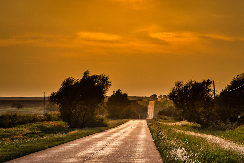 Route 66 past the horizon photography prints
