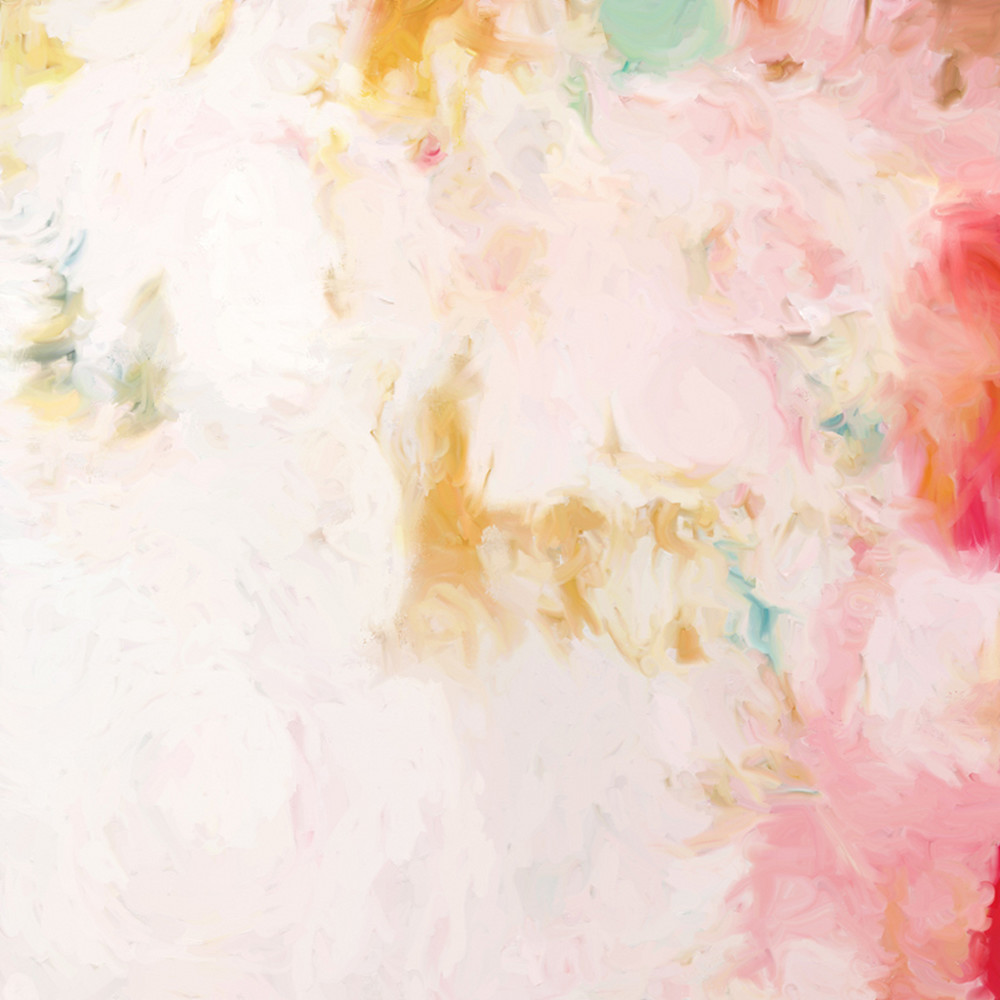 Cheri - Pink abstract art print