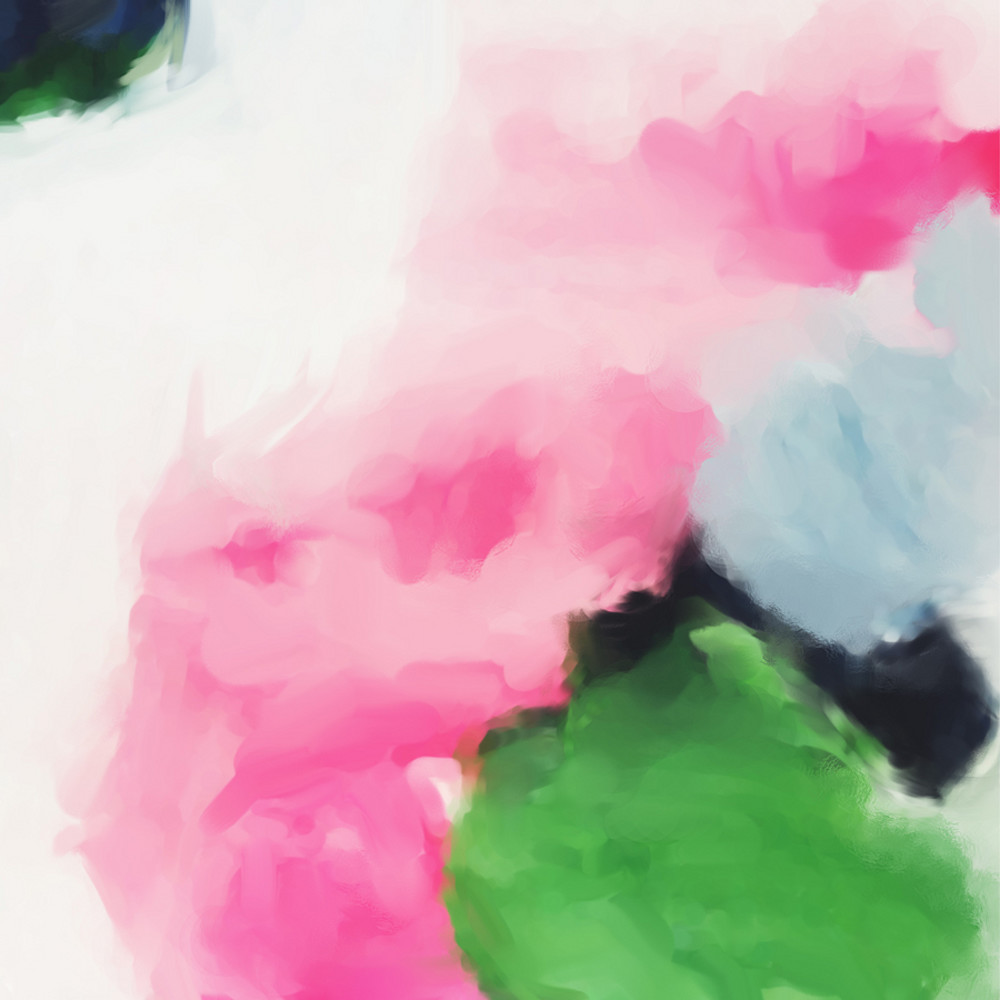 Jenny - Pink and Green Abstract Art Print