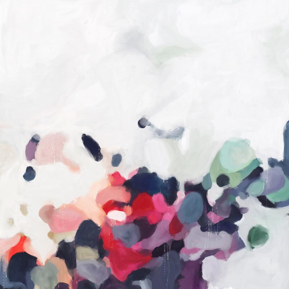 October, neutral abstract art print