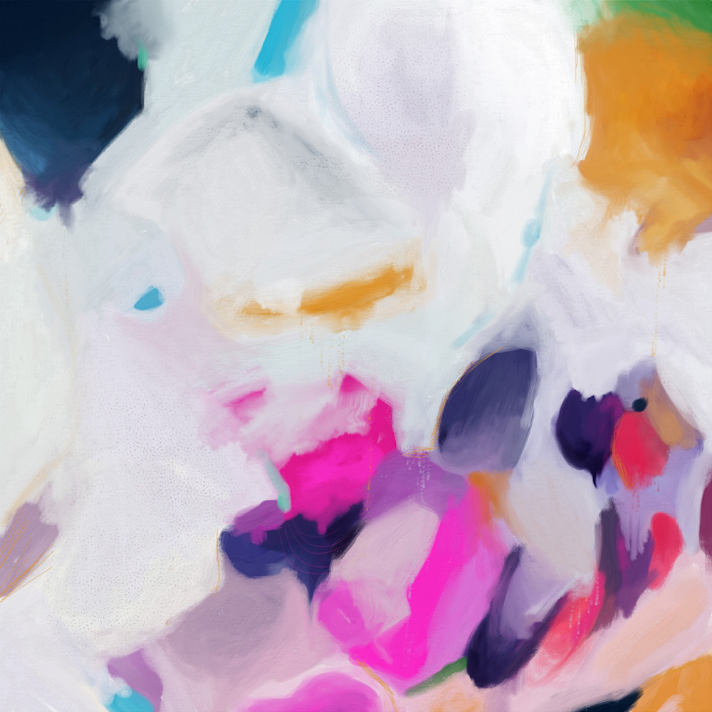 Aurelia - pink abstract art print