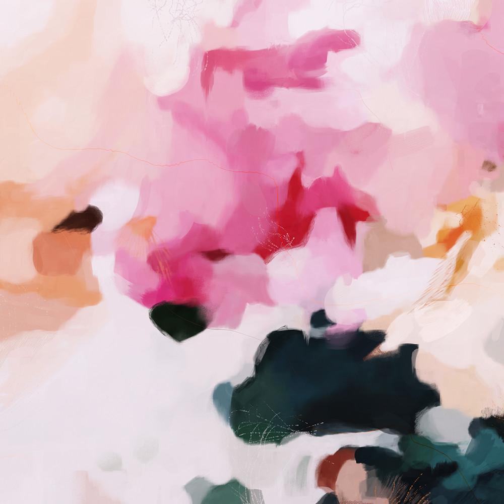 Elle - pink abstract art print