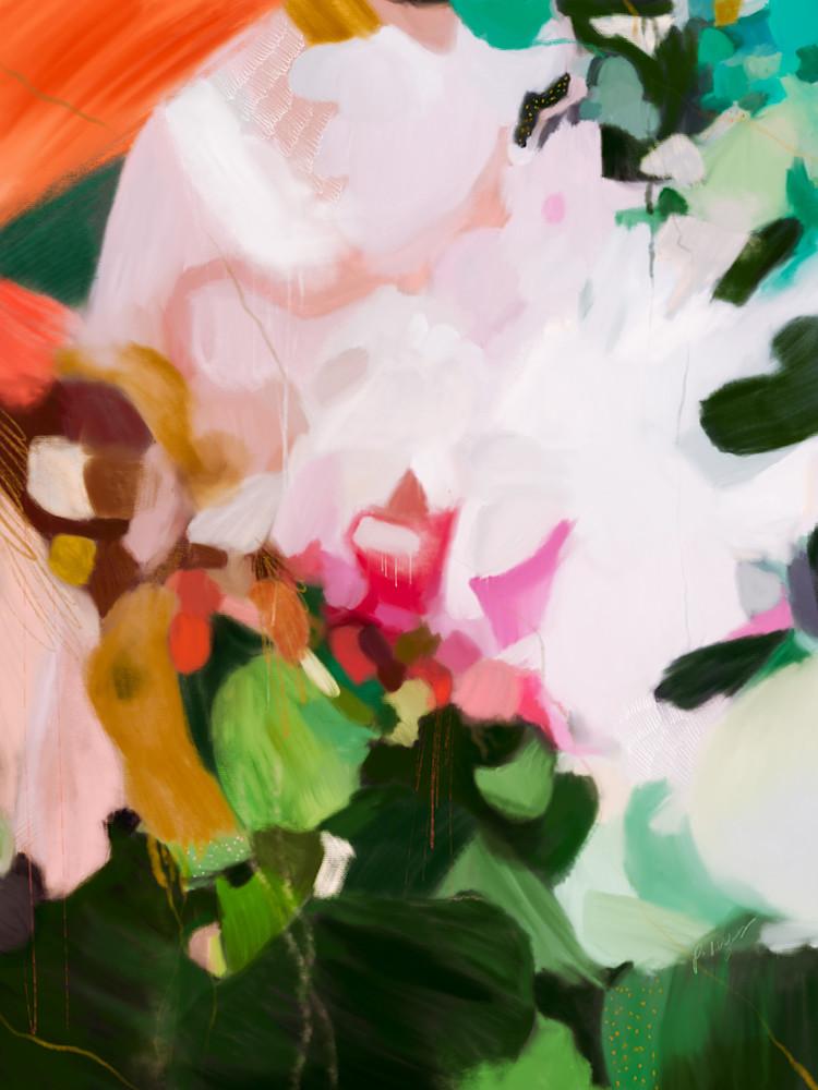 Thea - Green abstract art print