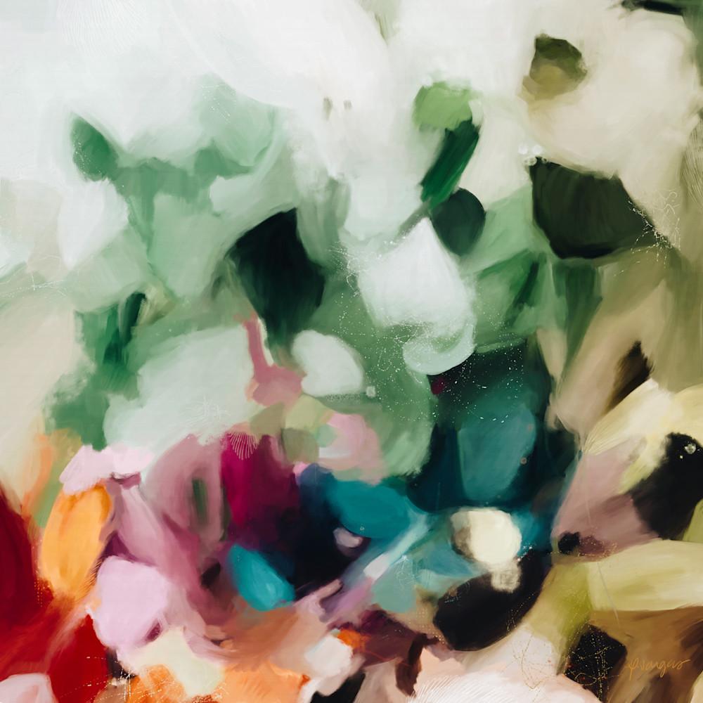 Marisol - Green abstract art print