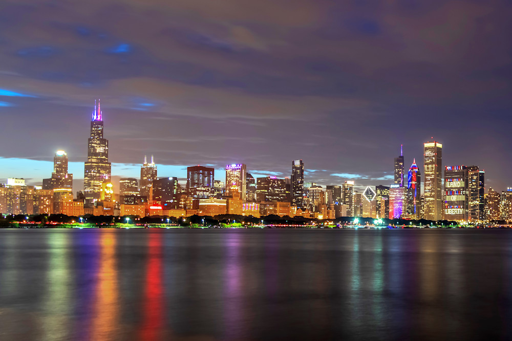 Independence Day at Chicago's Skyline - Chicago Wall Art   William Drew