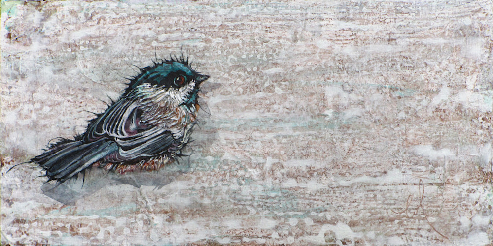 Weathered Chickadee 2 | Col Mitchell Contemporary Paper Artist