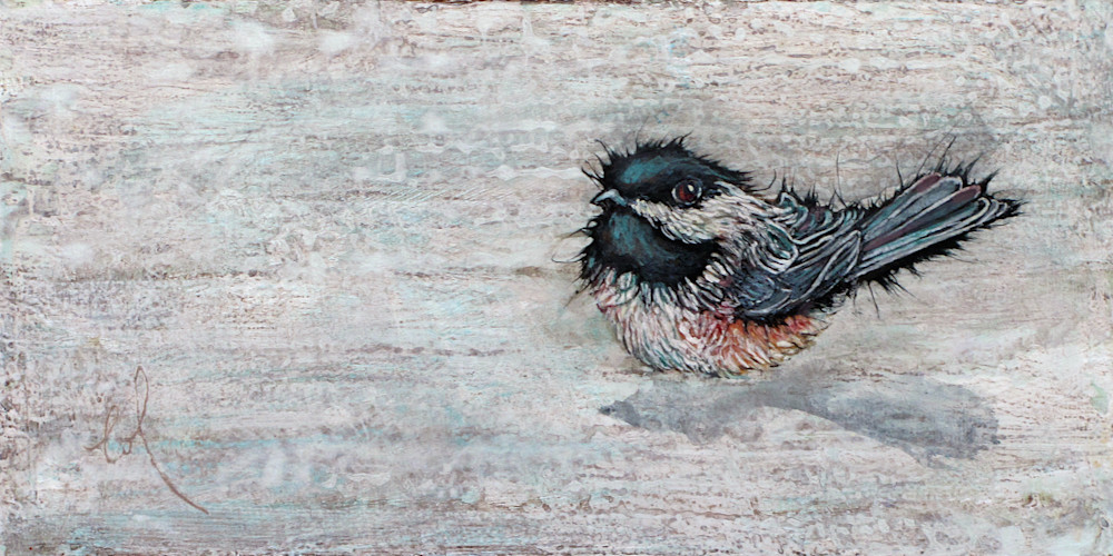Weathered Chickadee 3 | Col Mitchell Contemporary Paper Artist