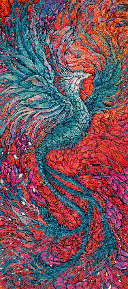 Within Us - Phoenix Art Print | Col Mitchell Contemporary Paper Artist