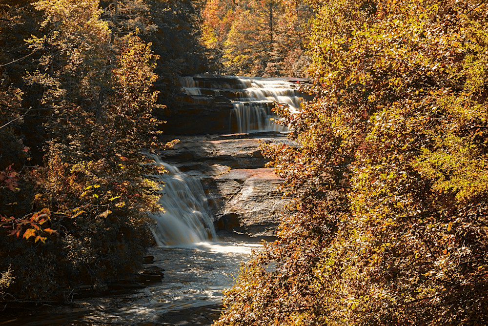Triple Falls Autumn View Photography Art | draphotography