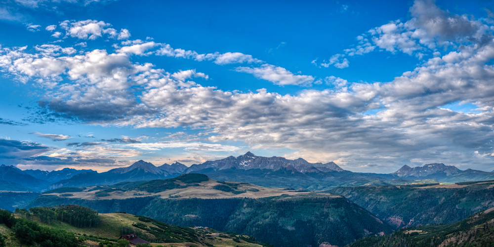 Wilson Peak With Clouds (Large) Photography Art | Peter Batty Photography