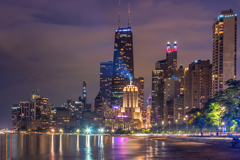 Chicago Nights - Chicago Photos for Sale | William Drew Photography