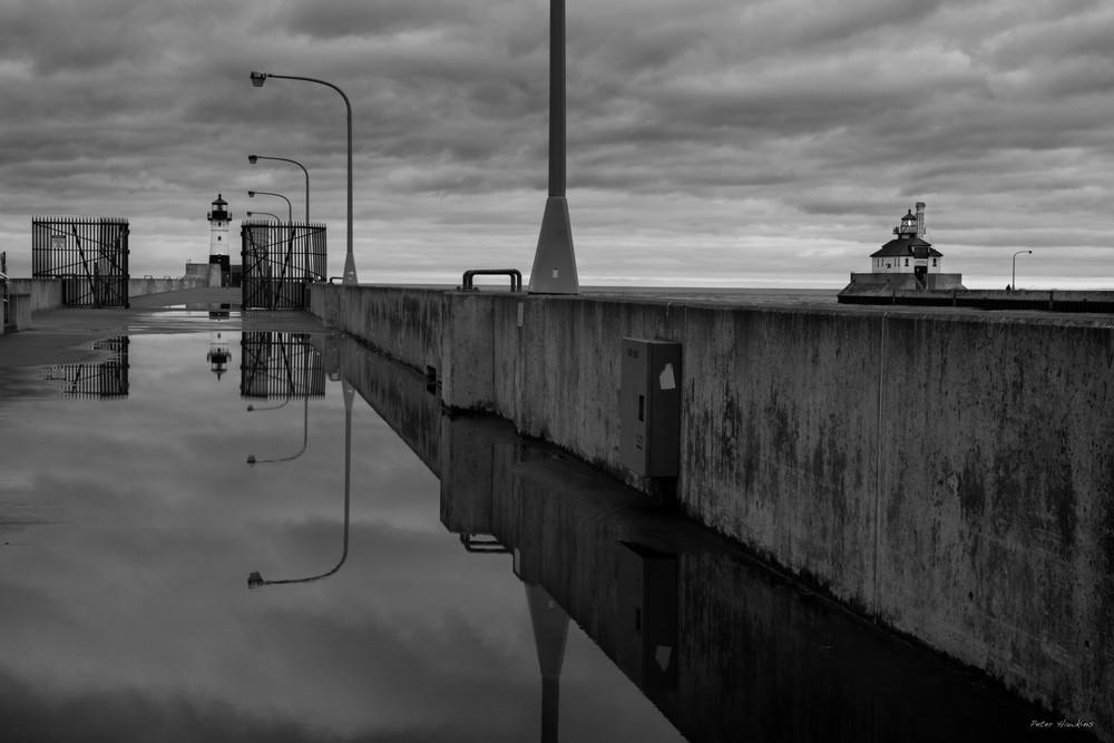 USA, Minnesota, Duluth, Canal Park, Ship Canal