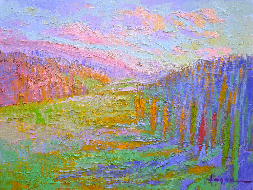 Tuscany Landscape Art Print Painting by Dorothy Fagan, Fertile Fields